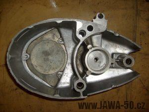 Pravé víko motoru Jawa 20 (novější typ) bez ložiska
