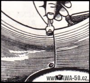 Demontáž kryt nad motorem Jawa 20