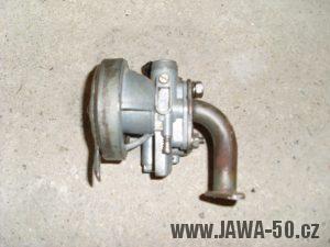 Jawa 550 - karburátor Jikov 2912 se škrtící clonou vzduchu z karburátoru Jikov 2914Hz