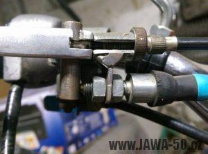 Přední brzdový spínač Jawa 50