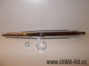 Výfuk motocyklu Jawa 05 Pionýr - první provedení