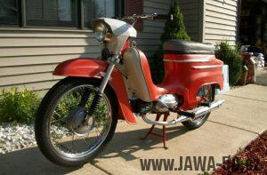 Exportní (vývozní) motocykl Jawa 50 typ 05A Sport pro USA a Kanadu