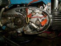 Motocykl Jawa 50 typ 21 Sport (Pionýr) z roku 1968 v původním stavu - magneto zapalování 6V-20W