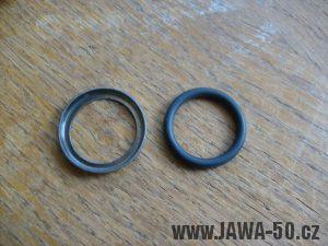 O-kroužek + plechová miska utěsnění hřídele startovací páky Jawa 50 Pionýr