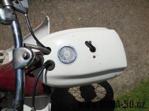 Vývozní motocykl Jawa 50 typ 05 pionýr z roku 1964 pro USA - Tachometr v mílích