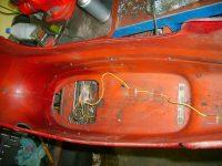 Motocykl Jawa 50 typ 05 Pionýr z roku 1963 v původním stavu - elektroinstalace zadního světla