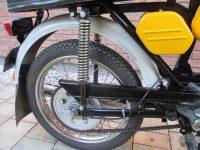 Vývozní (přiškrcený) motocykl Jawa 50 typ 223.200 Mustang pro Maďarsko z roku 1982 - zadní kolo, kryt řetězu