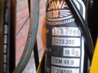 Vývozní (přiškrcený) motocykl Jawa 50 typ 223.200 Mustang pro Maďarsko z roku 1982 - výrobní štítek