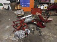Motocykl Jawa 50 typ 555 Pionýr z roku 1960 v původním stavu - rám a výfuk