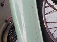 Vývozní (exportní) motocykl Jawa 50 typ Super M20 Pionýr pro Maďarsko z roku 1968 - přední blatník