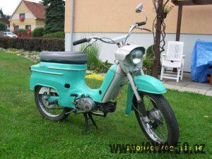 Šestá varianta řídítek používaných na motocyklech Jawa 50 (typech 21 Sport a 23 Mustang)