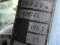 Jawa 21 Sport z roku 1967 v původním stavu - výrobní štítek v Němčině