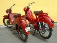 Porovnání motocyklů Jawa 555 Pionýr a Motoscoot Jawa 555 New Pionýr