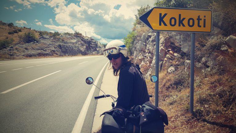 Martin Gregor, člen expedice malých motocyklů Jawa 50 na Balkán