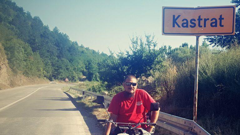 Michal Franc, člen expedice malých motocyklů Jawa 50 na Balkán