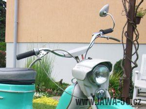 Jawa 50 typ 21 Sport (Pionýr) z roku 1971 - druhé provedení řídítek
