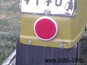 Jawa 50 typ 21 Sport (Pionýr) - kulatá plastová odrazka
