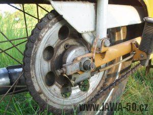 Jawa 50 typ 21 Sport (Pionýr) - nový tvar krytu řetězu