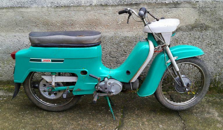 Motocykl Jawa 50 typ 21 Sport (Pionýr) - poslední provedení (1976)