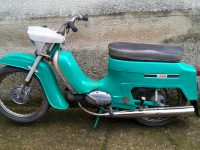 Motocykl Jawa 21 Sport (Pionýr) z roku 1976 (čtvrtá etapa)