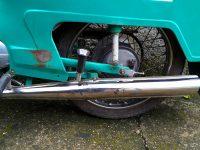 Motocykl Jawa 21 Sport (Pionýr) z roku 1976 (čtvrtá etapa) - výfuk