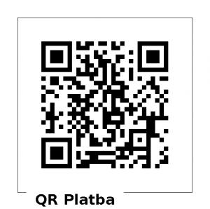 QR kód pro online platbu dobrovolného finančního příspěvku na chod webu