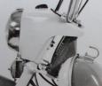 Detail provedení masky světlometu Jawa 22 (prototypu)