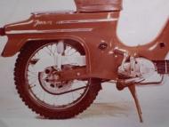 Zadní blatník Jawa 22 prototyp pro export