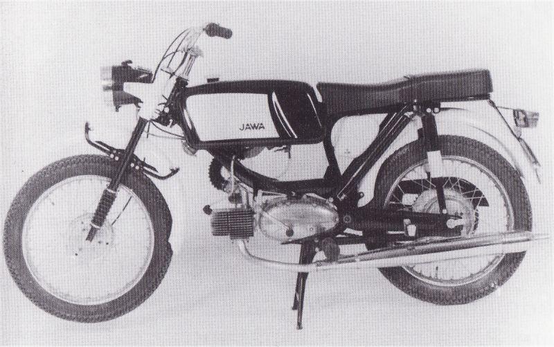 Jawa 23 A Mustang z roku 1968 určená pro vývoz