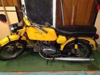 První provedení vývozního motocyklu Jawa 50 typ 23A Golden Sport