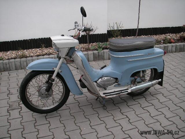 Motocykl Jawa 50 typ 20 Pionýr z roku 1970 (druhá výrobní etapa)