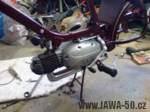 Renovace Jawa 550 Pionýr z roku 1958 - motor