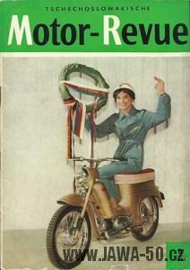 Jubilejní zlatý exportní 200000 kus Jawy 555 pro NDR - Motor Revue 6/1961 (časopis NDR)