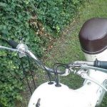 Motokolo Jawa 359 - detail řídítek s řazením