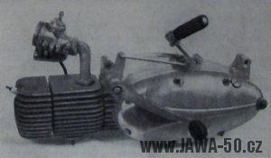 Prototypový motor motocyklu Jawa 05 Pionýr (1962)