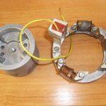 Originální tyristorové bezkontaktní zapalování pro Jawa 23 Mustang - snímač a rotor zvrchu