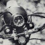 Jawa 50 typ 23 Mustang pro Velkou Británii - tachometr a světlomet