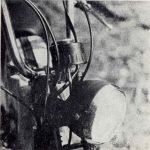 Jawa 50 typ 23 Mustang pro Velkou Británii - tachometr, řídítka