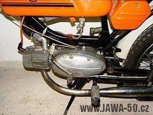 Vývozní motocykl Jawa 50 typ 23B Golden Sport pro Německo - motor