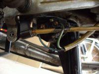 Umístění brzdového spínače u exportního motocyklu Jawa 23A Golden Sport