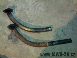 Srovnání výfukových kolen Jawa export