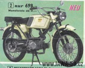 Jawa 23 Mustang pro obchodní sítě Neckermann a Quelle