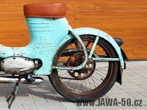Jawa 550 Pionýr (pařez) - Zadní blatník se dvěma vzpěrami