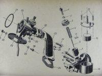 Jawa 05: nákres karburátoru Jikov 2915PS-11