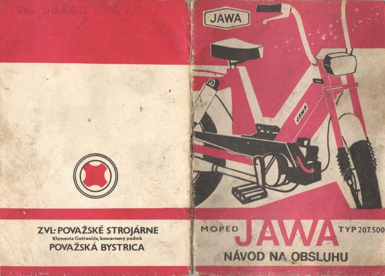 Manuál k mopedu Jawa 207.500 Babetta