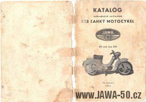 Katalog náhradních dílů Jawa 555 Pionýr (1962 - 4. vydání)
