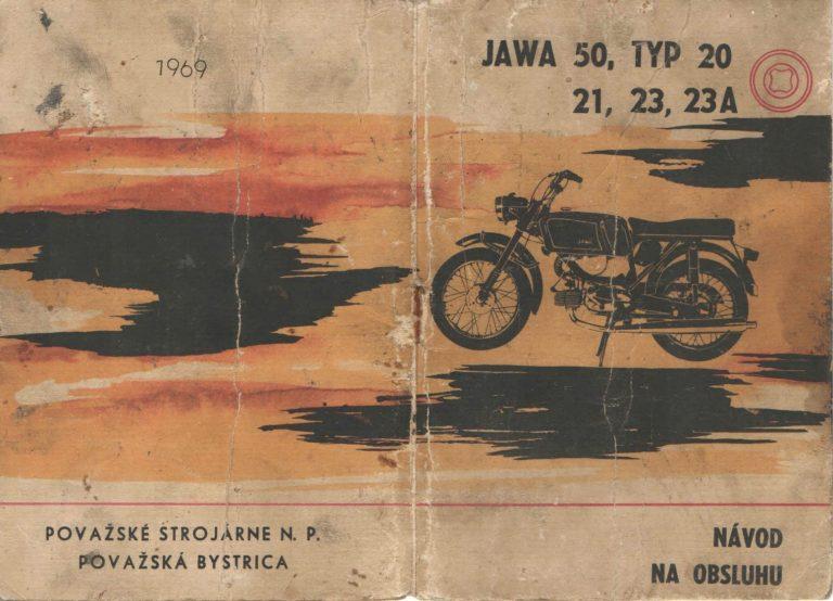 Manuál Jawa 20, 21, 23 Mustang (1969)