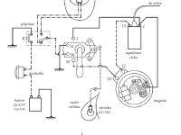 Schéma zapojení elektroinstalace nejstaršího provedení motocyklu Jawa 555 Pionýr (rok 1958)