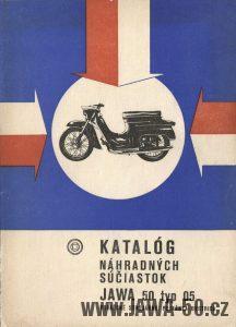 Katalog náhradních dílů k motocyklu Jawa 05 Pionýr