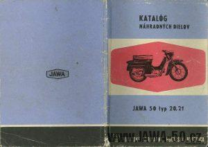 Katalog náhradních dílů Jawa 20, 21 Pionýr